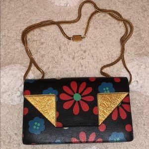 Authentic Saint Laurent Mini Betty Flower Bag